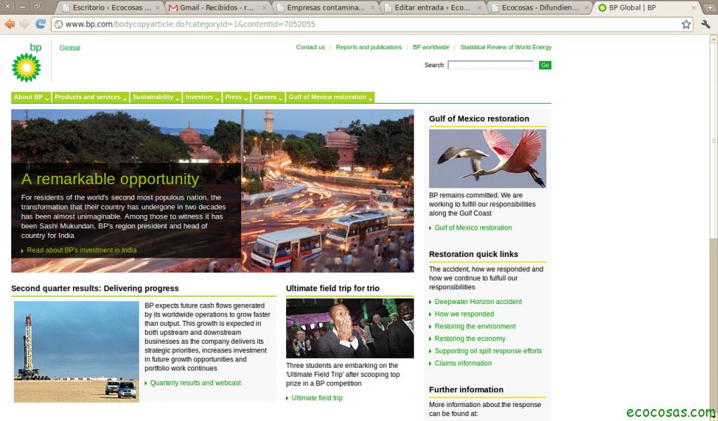 Empresas contaminantes con paginas verdes 2