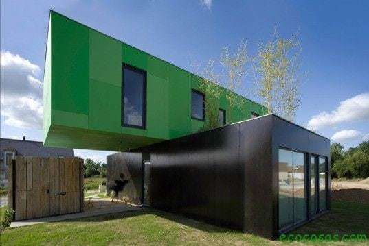 Crossbox container houses with cheap and ecological containers