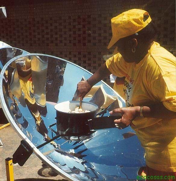 cocina solar parabolica Cocinas solares, ecológicas y gratis