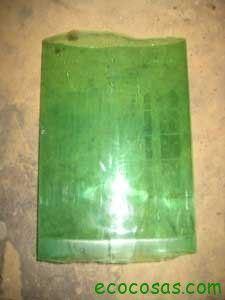 Cómo hacer un tejado con botellas PET 4