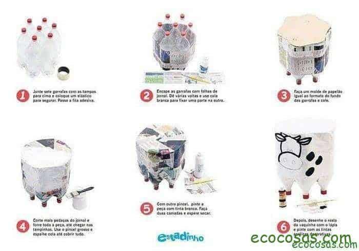 Ideas para reciclar botellas de plástico 9