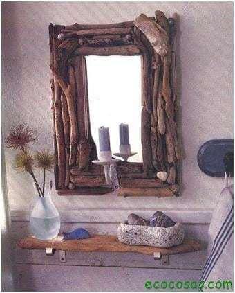 Ideas para realizar marcos y espejos ecocosas - Como hacer cuadros faciles en casa ...