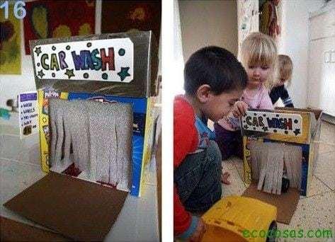 auto lavado de carton  25 formas de reciclar cajas de cartón para que tus hijos se diviertan