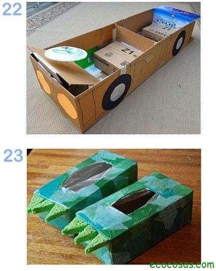 25 formas de reciclar cajas de cartón para que tus hijos se diviertan 16