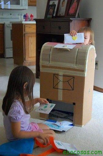 25 formas de reciclar cajas de cartón para que tus hijos se diviertan 7