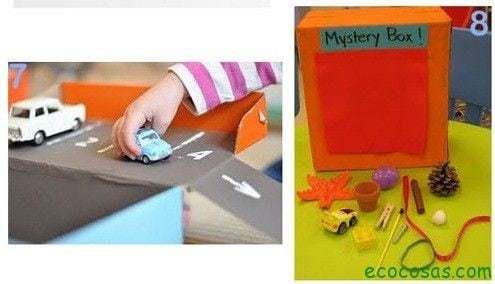 25 formas de reciclar cajas de cartón para que tus hijos se diviertan 4
