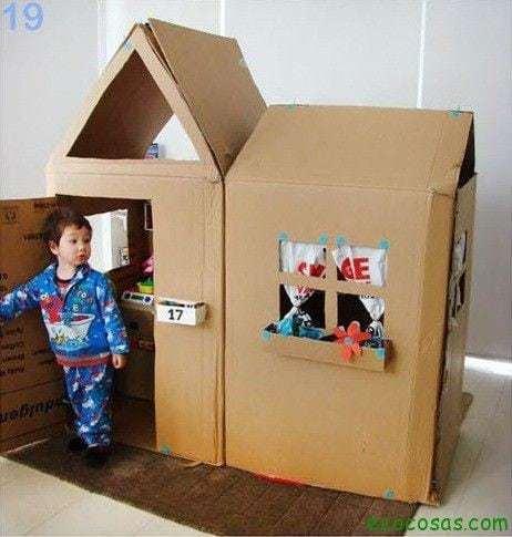 25 formas de reciclar cajas de cartón para que tus hijos se diviertan 13