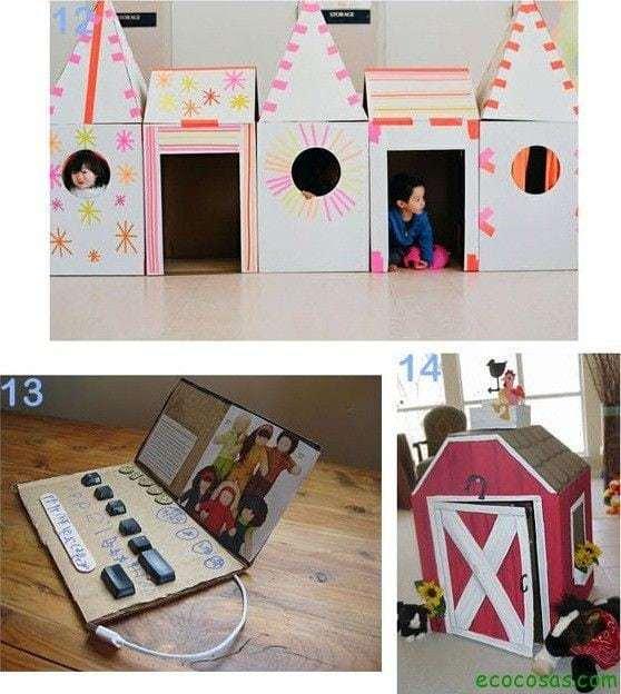 castillo y granero de carton 25 formas de reciclar cajas de cartón para que tus hijos se diviertan
