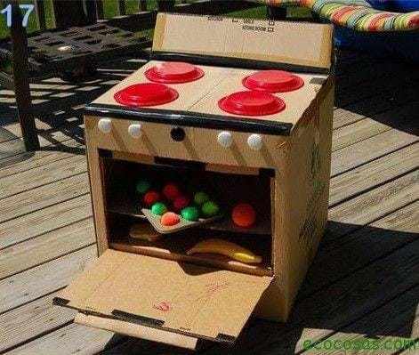 25 formas de reciclar cajas de cartón para que tus hijos se diviertan 11