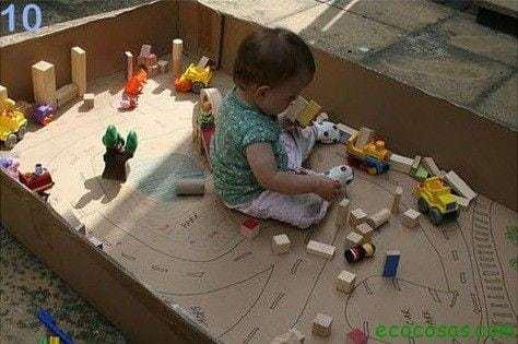 corral de carton  25 formas de reciclar cajas de cartón para que tus hijos se diviertan