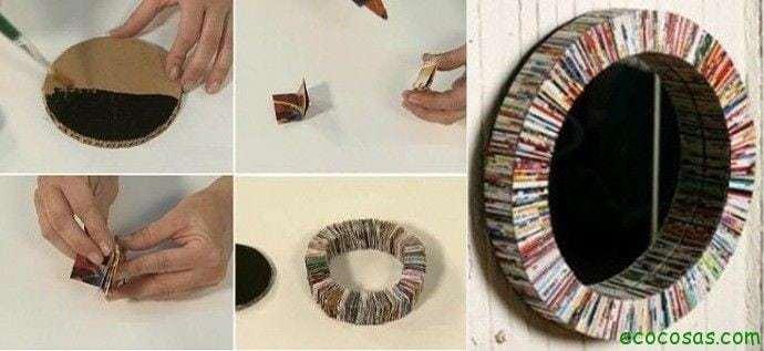 Ideas reciclar y decorar facil y rapido hazlo tu - Hacer marcos para espejos ...