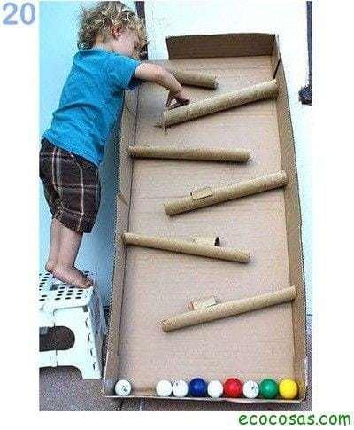 25 formas de reciclar cajas de cartón para que tus hijos se diviertan 14
