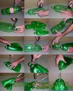 que se puede hacer con botellas de plastico