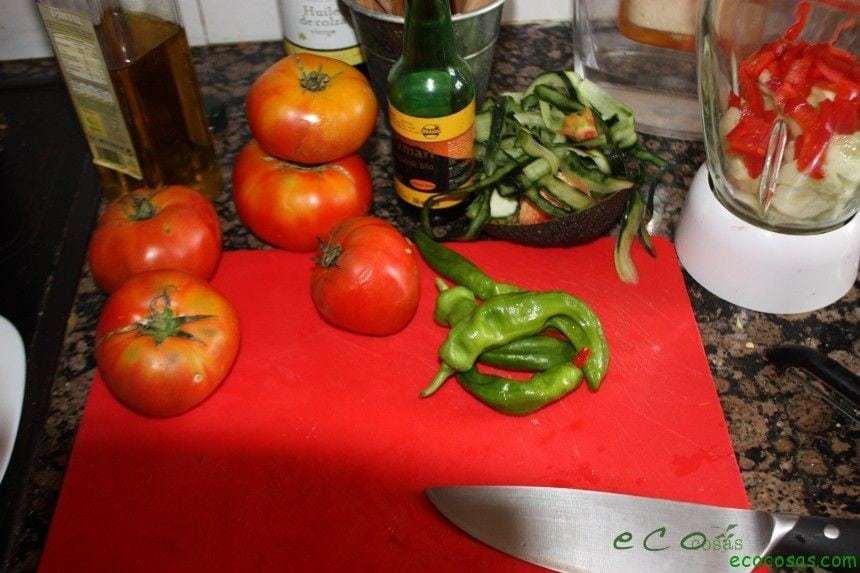 ingredientes ecocosas El Gazpacho, anticancerígeno y mucho más