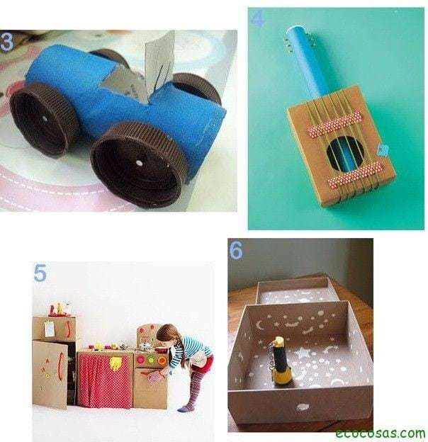 25 formas de reciclar cajas de cartón para que tus hijos se diviertan 3
