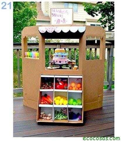 pasteleria de carton  25 formas de reciclar cajas de cartón para que tus hijos se diviertan