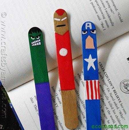 Marcador de livros de palitos 10 juguetes hechos con materiales reciclados