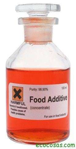 food additive Listado de Conservantes, Colorantes, Aditivos y Edulcorantes