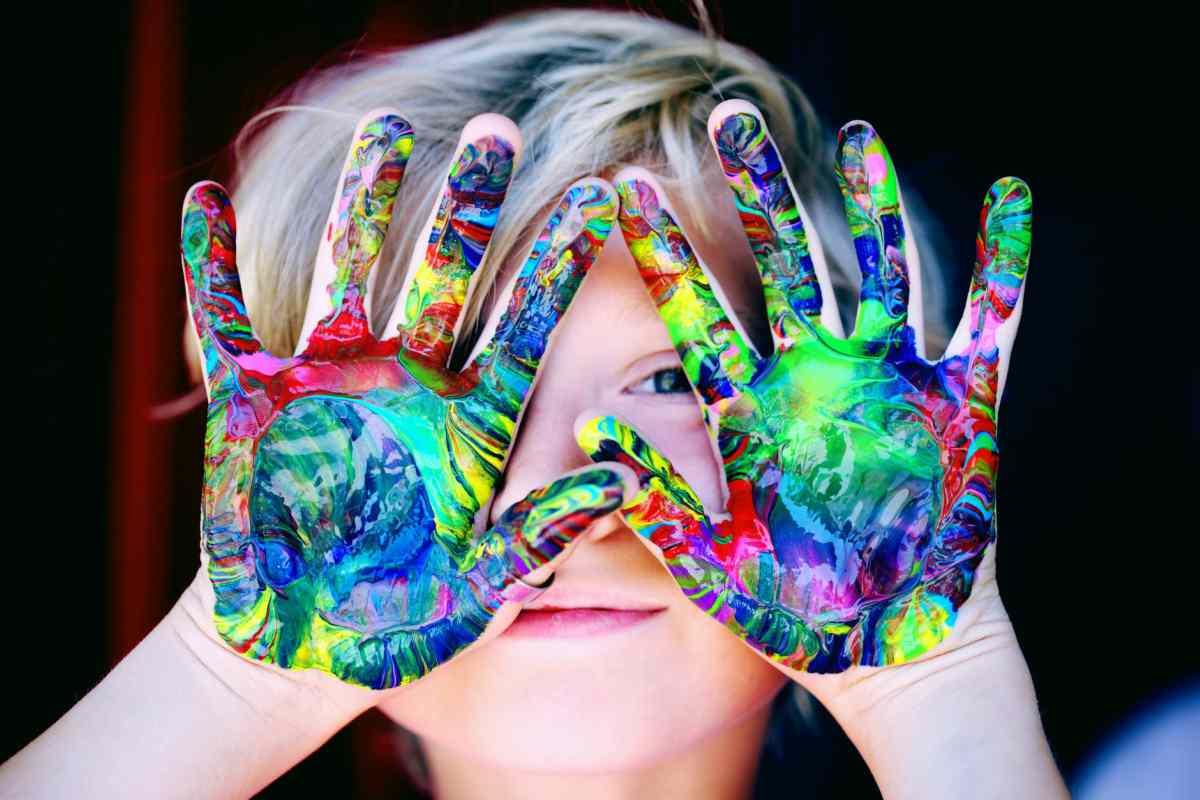 pintura manos casera