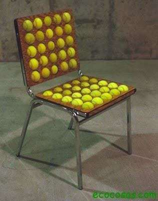 office chair Ideas para reutilizar bolas de tenis