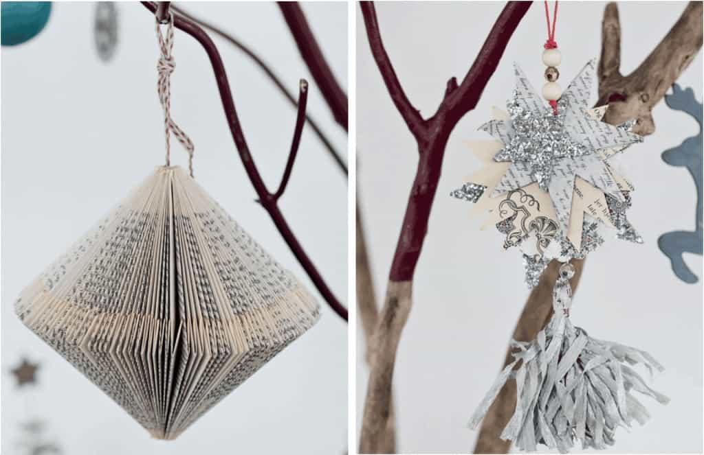 Adornos navide os reciclando papel ecocosas - Adornos de navidad con papel ...