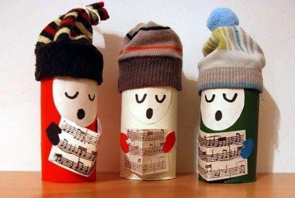 Adornos navide os reciclando papel ecocosas - Adornos navidenos con rollos de papel higienico ...