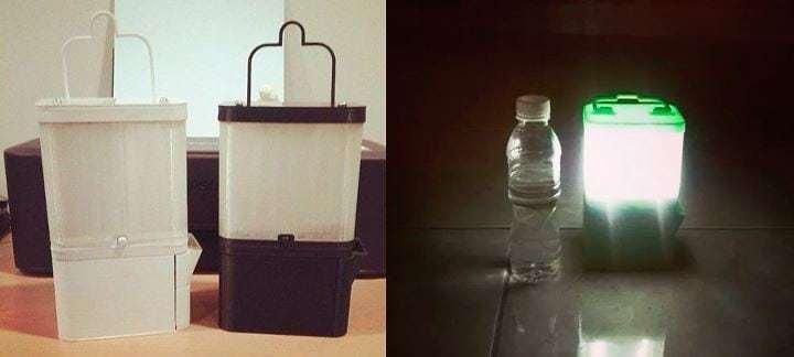 L mpara y cargador usb que funciona con agua y sal ecocosas - Lamparas que den mucha luz ...