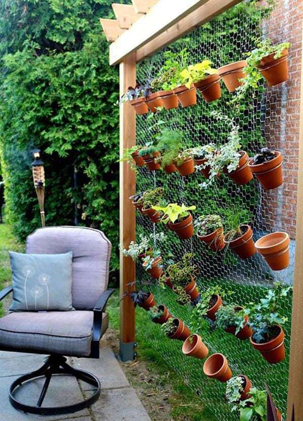 creative-vertical-garden-in-backyard