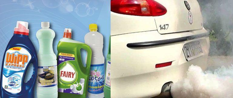 Los productos de limpieza contaminan tanto como los coches 1