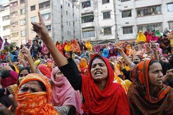 Los trabajadores que hacen nuestra ropa en protesta 2