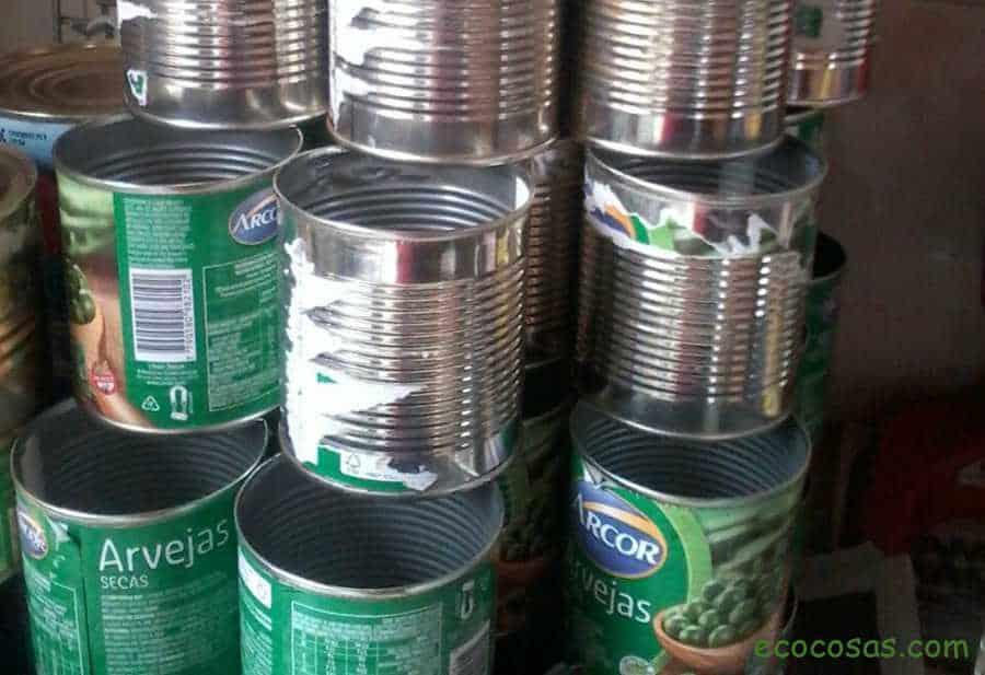 reciclar latas de conserva