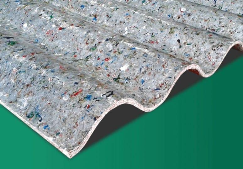 Tejados hechos con Tetra briks reciclados 2