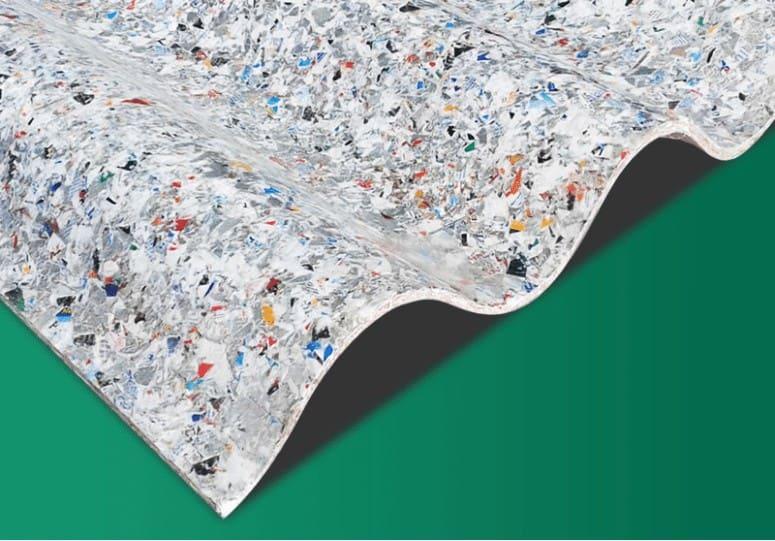 Tejados hechos con Tetra briks reciclados 3